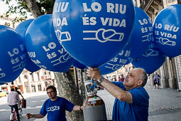 Manifestació a Barcelona en defensa de l'Ebre