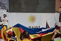 Diada Nacional 2016: manifestació a Salt Ambient durant la tarda a Salt