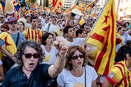Diada Nacional 2016: manifestació a Barcelona (Passeig de Sant Joan)
