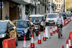 Les millors fotos de la setmana de Nació Digital El Dia Sense Cotxes a Barcelona acaba amb un 6,1% menys de trànsit. </br> Foto: Adrià Costa