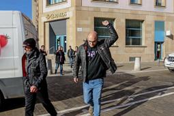 Les millors fotos de la setmana de Nació Digital Detenen Joan Coma, regidor de la CUP de Vic, per negar-se a declarar a l'Audiència Nacional. Foto: Albert Alemany