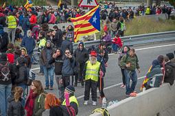 Aturada de país 8-N: Autopista AP7 Borressà-Vilafant
