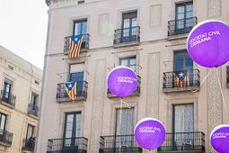 Manifestació de Societat Civil Catalana «Per la democràcia, llibertat i la convivència, aturem el cop» a Barcelona