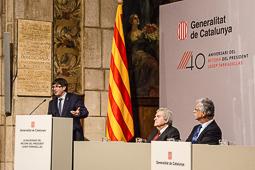 Commemoració del 40è aniversari del retorn del president Josep Tarradellas