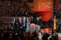 Carme Chacón, fotos històriques de la dirigent socialista Carme Chacón i José Luis Rodríguez Zapatero en un acte de la campanya a les eleccions del Parlament de Catalunya, l'any 2010.Foto: Adrià Costa
