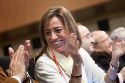 Carme Chacón, fotos històriques de la dirigent socialista Carme Chacón al congrés del PSC, l'any 2011.Foto: Adrià Costa