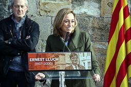 Carme Chacón, fotos històriques de la dirigent socialista Carme Chacón, a l'homenatge pel 15è aniversari de l'assassinat d'Ernest Lluch.Foto: Nerea Guisasola/ACN