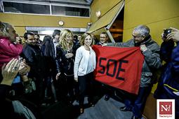 Carme Chacón, fotos històriques de la dirigent socialista Carme Chacón, a Terrassa en un acte de la campanya de les eleccions espanyoles del 2015.Foto: Cristóbal Castro