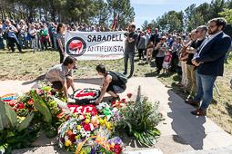 Les millors fotos de la setmana de Nació Digital Sabadell ret homenatge a les víctimes del nazisme en el marc de l'Aplec de la Salut.Foto: Juanma Peláez