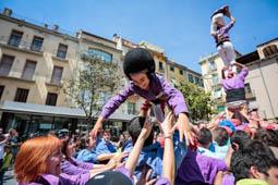 Les millors fotos de la setmana de Nació Digital Olot acull la la sisena Trobada de Colles Castelleres de Girona.Foto: Martí Albesa