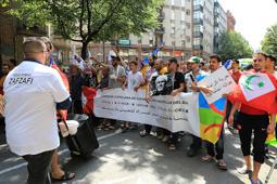 Les millors fotos de la setmana de Nació Digital Unes 200 persones es manifesten a Vicen solidaritat amb els presos polítics del Rif.Foto: Josep M. Costa