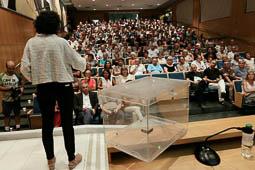 Les millors fotos de la setmana de Nació Digital Marta Rovira explica l'1-O a Vic.Foto: Albert Alemany