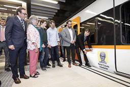 Les millors fotos de la setmana de Nació Digital Els Ferrocarrils de la Generalitat ja creuen Sabadell, des de Can Feu | Gràcia fins el Parc del Nord. Carles Puigdemont i Juli Fernàndez han inaugurat el traçat viatjant amb el tren batejatamb el nom de Muriel Casals.Foto: Juanma Peláez