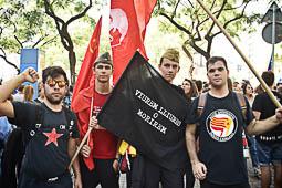 Manifestació d'estudiants en defensa del referèndum de l'1-O