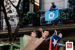 Tractorada en defensa del referèndum a Barcelona