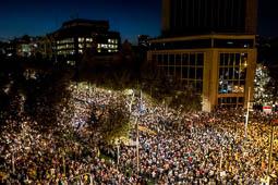 Concentració per la llibertat de Sànchez i Cuixart a Barcelona