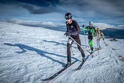 Les millors fotos de l'any de NacióDigital Kilian Jornet i Clàudia Galícia guanyen el Campionat de Catalunya d'Esquí de Muntanya.Foto: Josep M. Montaner
