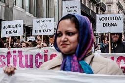 Les millors fotos de l'any de NacióDigital Barcelona protagonitza la manifestació més massiva d'Europa per als refugiats.Foto: Adrià Costa