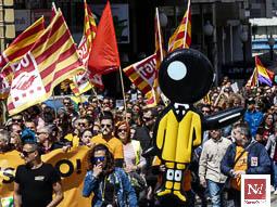 Les millors fotos de l'any de NacióDigital Més de 1.500 persones surten al carrer a Tarragona per defensar els drets dels treballadors.Foto: Jonathan Oca