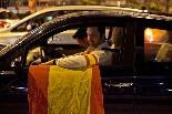 Els ultres protagonitzen la celebració de la Roja a Barcelona