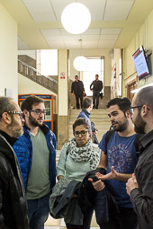 Eleccions andaluses 2015 Tertulia amb un grup d'estudiants de Ciències Polítiques de la Universitat de Granada.