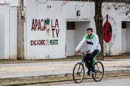 Eleccions andaluses 2015 Un dels murals pintats a les parets de Marinaleda, Sevilla.