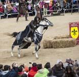 Mercat Medieval de Vic: torneig de cavalls de la Cia. Excalibur
