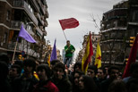 Manifestació d'estudiants de secundària en vaga