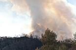 L'incendi de l'Alt empordà des de Figueres, Llers i la Jonquera, 2012
