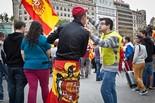 12-O: Ultres espanyolistes a la manifestació de la plataforma D'Espanya i catalans