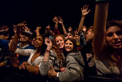 Mercat de Música Viva de Vic 2015 Públic al concert de Pxxr Gvng