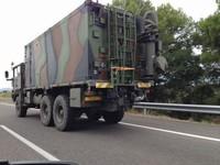 Via Catalana - Fotos dels lectors Camions militars francesos a l'AP7 en sentit sud - Carmina Pujol