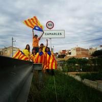 Via Catalana - Fotos dels lectors Garrotxines i garrotxí d'expedició independentista a Camarles