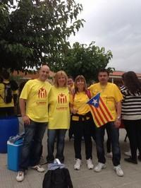 Via Catalana - Fotos dels lectors Breda amb la Via Catalana