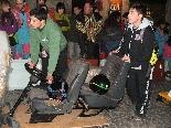 Baixada de Boits del Carnaval 2011 Els pilots i els boits van fer el recorregut de pujada per fer el reconeixement