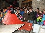 Baixada de Boits del Carnaval 2011 Més d'un va estar a punt de sortir de la pista
