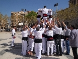 Els Castellers de Solsona a l'Arrela't al Sol