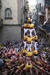 Bateig dels Castellers de Solsona Aixecant un castell
