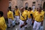 Bateig dels Castellers de Solsona Arribant a la plaça de l'Ajuntament