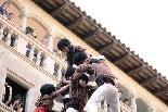 Bateig dels Castellers de Solsona Els Marganers de Guissona culminant un castell