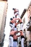 Bateig dels Castellers de Solsona Els Salats de Súria descarregant el 3 de 7