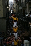 Bateig dels Castellers de Solsona Les colles van aixecar diversos pilars