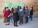 Funeral pel jove Aleix Ribera Companys i amics han fet murals dedicats al malaguanyat jove
