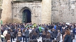 Funeral pel jove Aleix Ribera La Plaça de la catedral es va quedar petita davant l'allau de solsonins que van voler donar el darrer adéu a l'Aleix Ribera