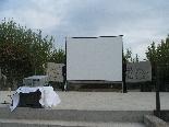 Preparatius Final Copa del Rei 2011 La pantalla gegant a poques hores de la retransmissió