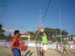 Campionat Volei Platja 4x4 El Pi 2011 Un moment dels emocionants i espectaculars partits
