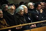 Funeral mossèn Ballarin L'expresident Jordi Pujol i la seva dona, Marta Ferrusola, a la missa de comiat de Ballarín (ACN)