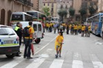 Sortida d'autocars a la Via Catalana