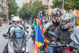 Diada Nacional 2015: concentració de motards independentistes a Vic