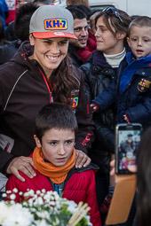 Recepció a Laia Sanz a Seva